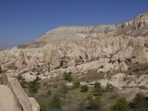 Rosarote Landschaft