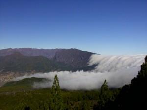 Wolken über Cumbre